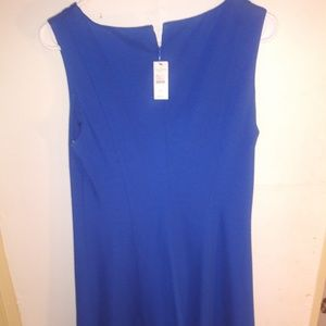 Talbots blue sleevless career dress.New